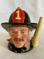 Royal Doulton Character Jug The Fireman D6697 1982 Large Mug Toby