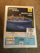 """Polygroup® Summer Waves® 10' x 30"""" Quick Set® Ring Pool Brand New With Pump!"""