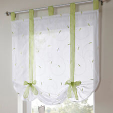 Kitchen Tab Top Sheer Balcony Window Curtain Voile Blinds Bedroom Curtains LI