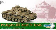 Dragon Armor WWII German 1/72 Scale Pz.Kpfw.III Ausf.N DAK, s.Pz.Abt.501 #60603