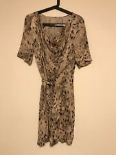 RARE New Scanlan & Theodore Autumn Leaves Cowl Neck DRESS RRP$499 SOLD OUT