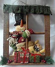 Happy Chaps Window Scene - Hanging Christmas Decoration - Size: 35 x 7 x 42cm