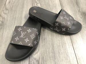 Designer Style Sliders Flip Flop Shoes Black Size 8