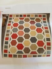 "Hexagon Park Quilting Kit by Lynne Goldsworthy w/ Moda Fabrics 80"" x 70"""