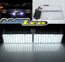 White 96 LED Strobe Dash Emergency Flashing Warning Light for Car Truck set