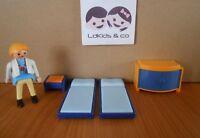 Playmobil Dollhouse Maison LOT de MEUBLES POUR CHAMBRE LIT CHEVET COMMODE  PL86