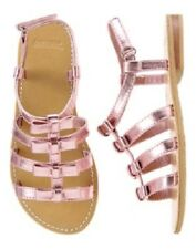 Gymboree Island Cruise Metallic Pink Sandals Shoes with Bows Girl Size 11 NEW
