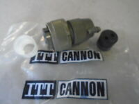 1 EA NOS ITT CANNON 2 PIN ELECTRICAL PLUG CONNECTOR  P/N: MS3106R18-3S