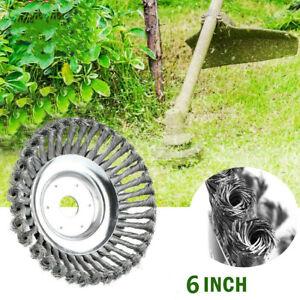 "6"" Indestructible Steel Wire Trimmer Head Grass Brush Cutter Lawnmower Tool"