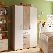 Kleiderschrank Corner Schrank Kinderzimmerschrank in Sonoma Eiche und weiß 115