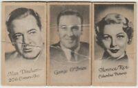 Lot of 3 Beat 1937 Peerless Weight Machine Trading Cards O'BRIEN DINEHART RICE
