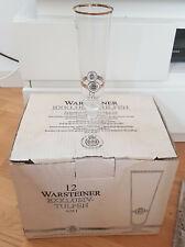 12 Warsteiner Exklusiv-Tulpen Gläser Biergläser 0,25 l Goldrand *NEU*