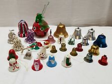 Vintage Christmas Tree Ornaments Jingle Bells Lot Metal Brass Bead Decorations
