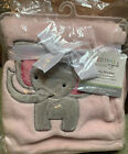 New Bedtime Originals Twinkle Toes Soft Pink Coral Fleece Elephant Baby Blanket