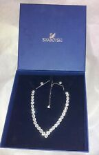 Swarovski Angelic Square Rhodium Plated Necklace & Earring Set - 5364318