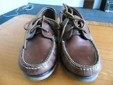 MENS M&S BROWN LEATHER BOAT/DECK SHOES SIZE UK 7.5 EU41