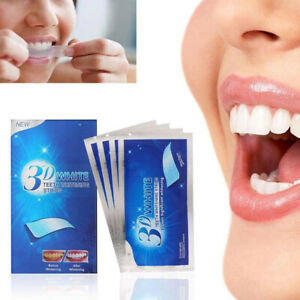 Original 3D White Strips Noticeably White Teeth Dental Whitening Kit Whitens AU