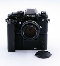 NIKON F3 35mm FILM SLR CAMERA WITH NIKKOR AI 50mm F/1.4 LENS + MD-4 MOTOR DRIVE