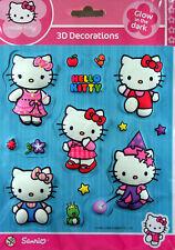 Hello Kitty 3D Wandsticker, Wandtattoo, Wall Sticker, auf 23x16 cm Bogen