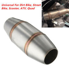 Silver 38mm Motorcycle Scooter Expansion Chamber Tuned Exhaust Pipe Muffler Kit