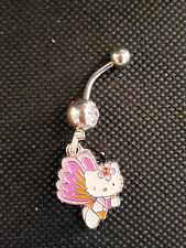 Hello Kitty Butterfly very dainty Belly Ring Navel Ring 14G S.S.