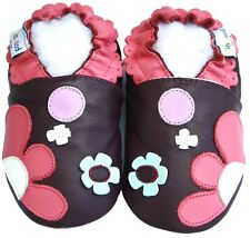 Free Ship Littleoneshoes Soft Sole Leather Baby Children Flowerpatch Shoes 0-6M