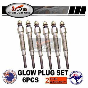 6 PCS Glow Plugs for Nissan Patrol GQ for Ford Maverick DA TD42 4.2L Diesel 6cyl