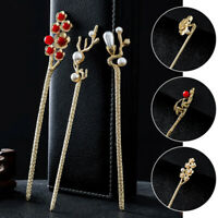Traditional Chinese Style Long Hair Stick Clips Forks Women Girls Hairpin Retro