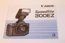 Manual Canon Speedlite 300EZ Flash Guide Instructions English E