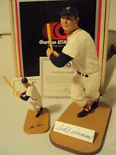 Gartlan Ted Williams Hand-Signed Figurine + Mini Both w/COA's & Boxes!