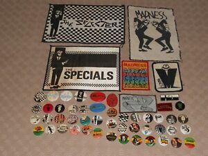 Rare Vintage Original Joblot SKA 2 Tone Selector Madness Music Patches & Badges