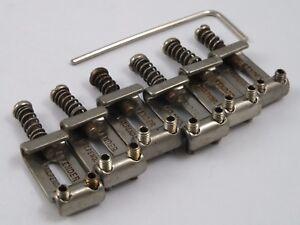 Aged NICKEL PAT. PEND. BENT STEEL BRIDGE SADDLES for Fender Stratocaster Bridge