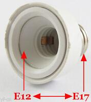 10pcs E17 Male to E12 Female Socket Base LED Halogen CFL Light Bulb Lamp Adapter