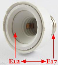 100x E17 Male to E12 Female Socket Base LED Halogen CFL Light Bulb Lamp Adapter