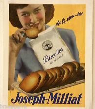 AFFICHE PUB : JOSEPH-MILLIAT Dé-li-cieu-ses 1950