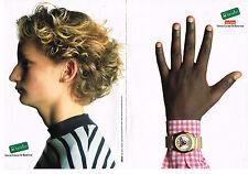 PUBLICITE ADVERTISING 014 1989  United Colors of Benetton (2p) montre Bulova