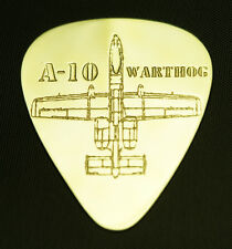 A-10 WARTHOG  - Solid Brass Guitar Pick, Acoustic, Electric, Bass