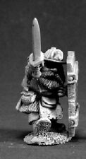 Cobb Dwarf Miner Reaper Miniatures Dark Heaven Legends Melee Sword Shield Helmet