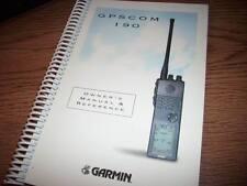 Garmin GPS COM 190 Owner's manual