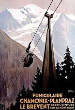 Arte cartel impresión de viaje Chamonix Mont Blanc