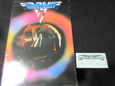 Van Halen 1978 Japan Tour Book with Ticket David Lee Roth Eddie Concert Program