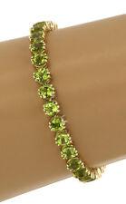 14K Yellow Gold Peridot Tennis Bracelet  Value $1800.00+ Estate department item