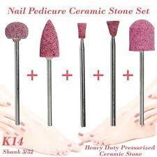 Nail Pedicure Condorum Stone Ceramic Bit Drill Bur Cuticle Remove 3/32 Set K14