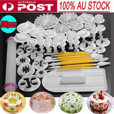 68pcs Fondant Cake Decorating Kit Cookie Mould Icing Plunger Cutter Tool Set -AU
