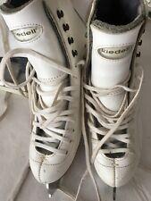 Reidell white ladies ice skates with Wilson Excel blades Good condition size 4.5