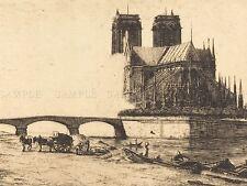 Charles meryon francés Apsis Catedral Notre Dame París impresión arte cartel bb5090a