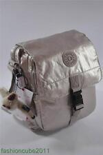New With Tag KIPLING Lancelot Shoulder Cross Body Travel Bag -Silver Beige