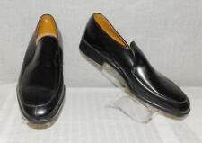 Vtg 50s 60s Rockabilly Vs Hipster Black Slip On Loafer Shoes Nos New Old 10 D