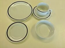 Delta Airlines 1st Class Abco Navy & Gold Braid 5 Piece Place Setting
