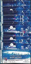 2013-2014 NHL NEW YORK RANGERS SEASON FULL UNUSED TICKETS LOT - ALL 41 TIX